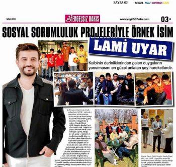 """"""" Sosyal Sorumluluk Projeleriyle Örnek İsim """"LAMİ UYAR"""""""""""